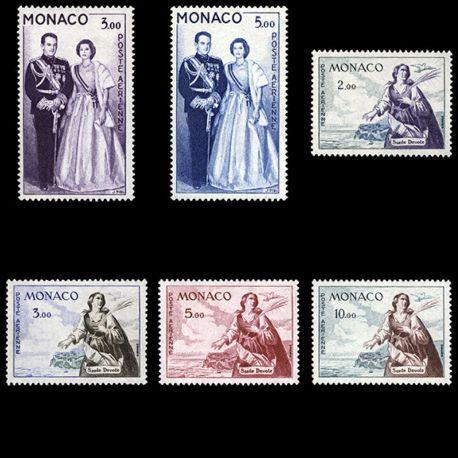 Timbre Monaco PA N° 73/78 neuf sans charnière