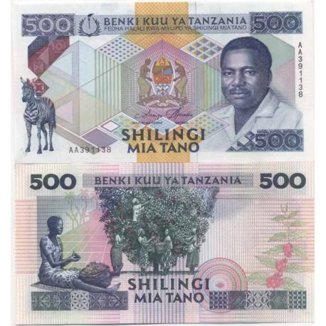 Billet de banque Tanzanie Pk N° 999999 - 500 Shilings