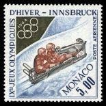 Francobollo di Monaco posta aerea N° 83 nove senza cerniera