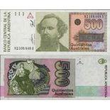 Beautiful banknote Argentina Pick number 328 - 500 Peso 1988