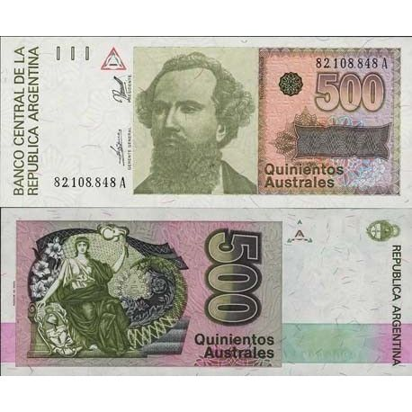 Billets de collection Billet de collection Argentine Pk N° 328 - 500 Australes Billets d'Argentine 2,00 €