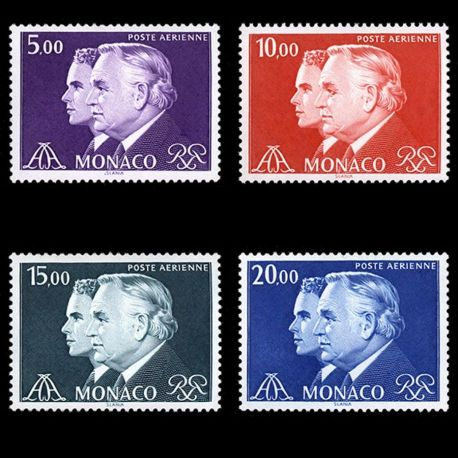 Stamp collection of Monaco Pa N° 100/103 nine without hinge