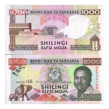 Billet de collection Tanzanie Pk N° 27 - 1000 Shilings