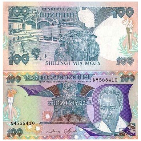 Billets de banque Tanzanie Pk N° 14 - 100 Shilings