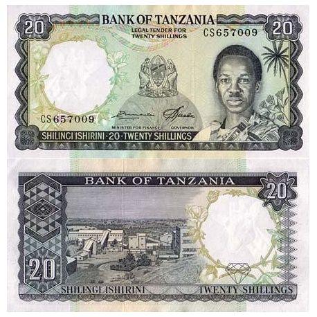 Billets collection Tanzanie Pk N° 3 - 20 Shilings