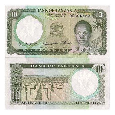 Tanzanie - Pk N° 2 - Billet de 10 Shilings