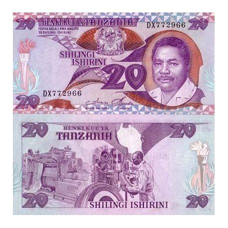 Billet de collection Tanzanie Pk N° 15 - 20 Shilings