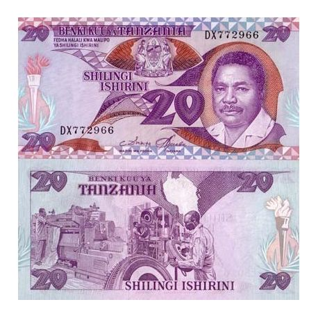 Tanzanie - Pk N° 15 - Billet de 20 Shilings