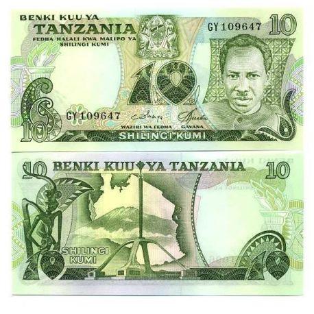Billets de banque Tanzanie Pk N° 6 - 10 Shilings
