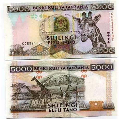 Tanzanie - Pk N° 32 - Billet de 5000 Shilings