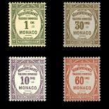 Timbre de collection de Monaco Taxe N° 13/16 neuf sans charnière