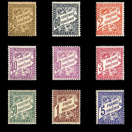 Timbre Monaco Taxe N° 18/26 neuf sans charnière