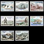 Francobollo di Monaco tassa N° 56/62 nove senza cerniera