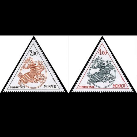 Timbre Monaco Taxe N° 71/72 neuf sans charnière