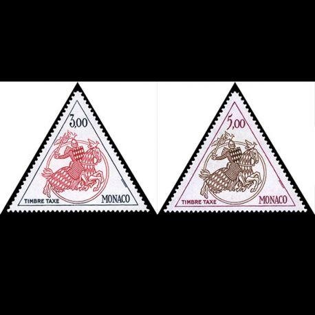 Monaco : Taxe N° 73/74 - Neuf(s) sans charnière