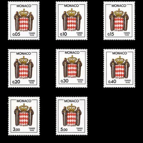 Timbre Monaco Taxe N° 75/82 neuf sans charnière