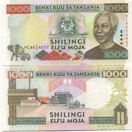 Billet de banque Tanzanie Pk N° 34 - 1000 Shilings