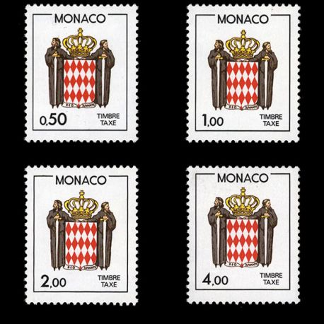 Monaco : Taxe N° 83/86 - Neuf(s) sans charnière
