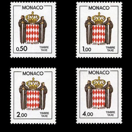 Timbre Monaco Taxe N° 83/86 neuf sans charnière