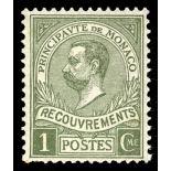 Francobollo di Monaco tassa N° 8 nove senza cerniera