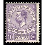 Timbre de collection de Monaco Taxe N° 9 neuf sans charnière