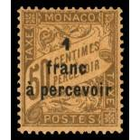 Francobollo di Monaco tassa N° 17 nove senza cerniera