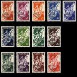 Francobollo di Monaco Preobliterati N° 11/18 nove senza cerniera
