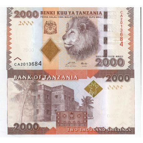 Billets banque Tanzanie Pk N° 42 - 2000 Shilings