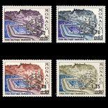 Timbre de collection de Monaco Préo N° 34/37 neuf sans charnière