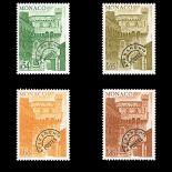 Francobollo di Monaco Preobliterati N° 46/49 nove senza cerniera