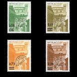 Francobollo di Monaco Preobliterati N° 50/53 nove senza cerniera