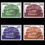 Francobollo di Monaco Preobliterati N° 58/61 nove senza cerniera