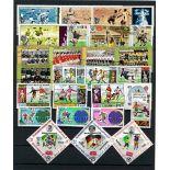 Collezione di francobolli calcio messico 70 cancellati
