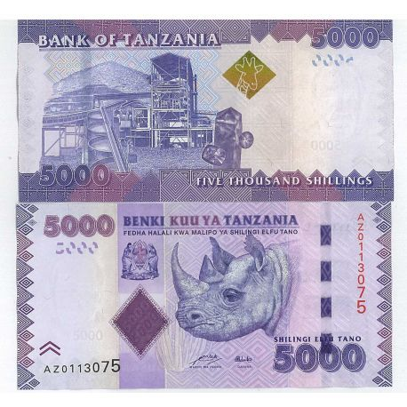 Tanzanie - Pk N° 999999 - Billet de 5000 Shilings