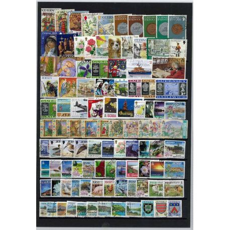 Collection de timbres Iles Anglo Normandes oblitérés