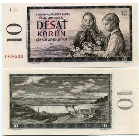 Tchecoslovaquie - Pk N° 88 - Billet de 10 Korun