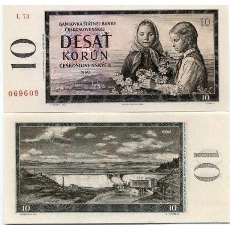 Billets de collection Billet de banque Tchecoslovaquie Pk N° 88 - 10 Korun Billets de Tchecoslovaquie 5,00 €