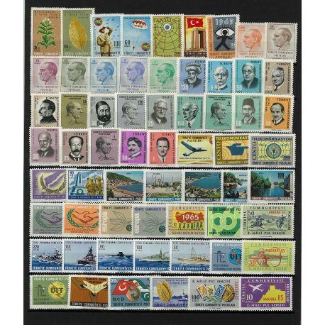 Turquie 1965 Année complète neuve
