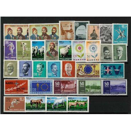 Turquie 1964 Année complète neuve