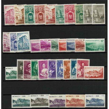 Timbre Monaco 1939 Année complète neuve