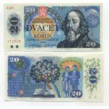 Banconote Cecoslovacchia Pk N° 95 - 20 Korun
