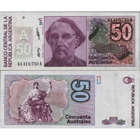 Billets de collection Billets collection Argentine Pk N° 326 - 50 Australes Billets d'Argentine 2,50 €