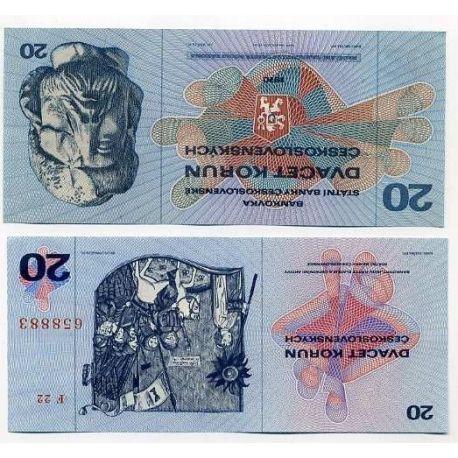 Billets de collection Billets collection Tchecoslovaquie Pk N° 92 - 20 Korun Billets de Tchecoslovaquie 4,00 €