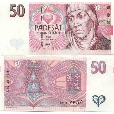 Billets banque Tcheque Republique Pk N° 17 - 50 Korun