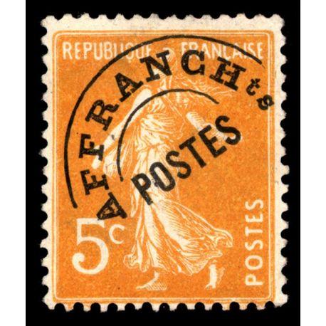 Timbre préoblitérés France N° 50 neuf sans charnière