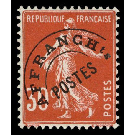 Timbre préoblitérés France N° 58 neuf sans charnière