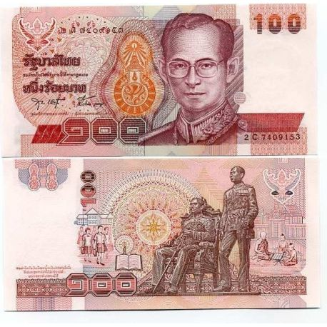 Billets banque Thailande Pk N° 97 - 100 Baht
