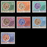 Serie di pre annulla francobolli N ° 123/29 Nuevo non linguellato