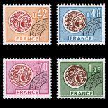 Timbres préoblitérés France Série N° 134/37 neuf sans charnière
