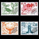 Timbres préoblitérés France Série N° 150/53 neuf sans charnière